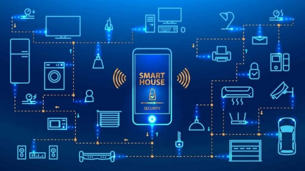 smart home all devices connected with a mobile phone