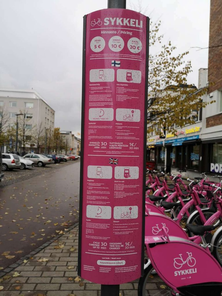 a stop for smart bikes renting