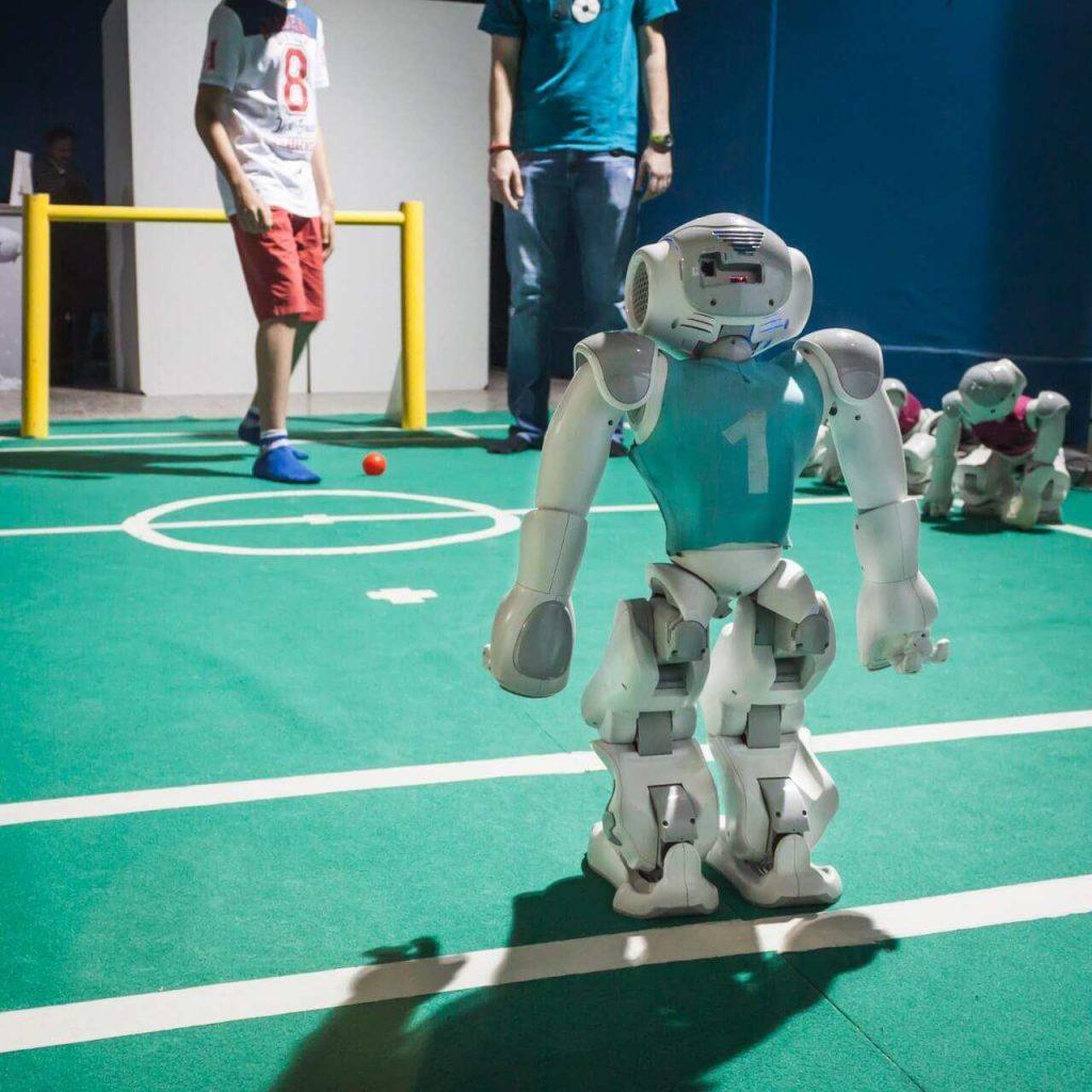 nao robot playing soccer
