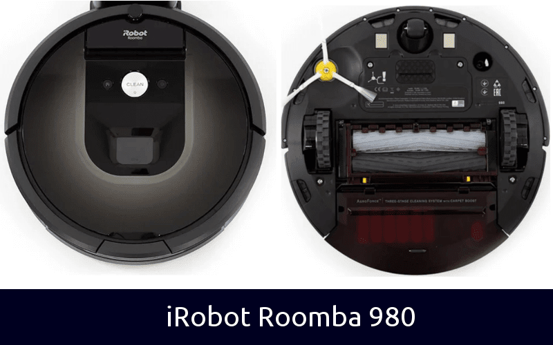iRobot Roomba 980 back and front
