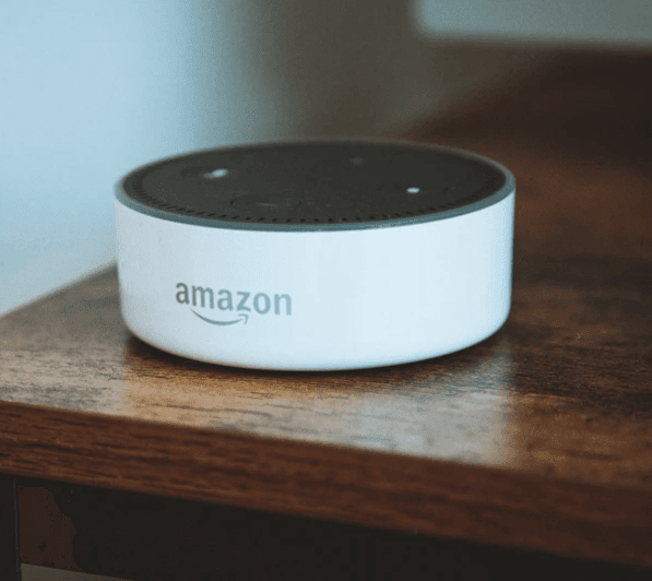 amazon echo dot white smart speaker