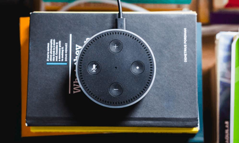 echo dot on books smart speaker with alexa