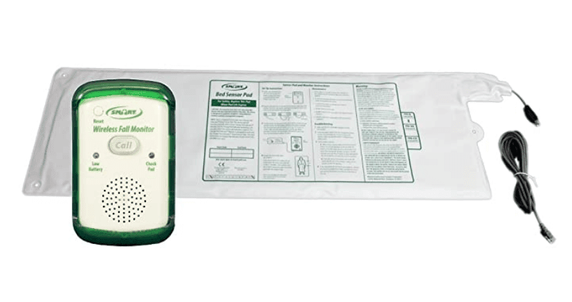 Bed Alert System for Fall or Wandering Prevention – Includes Monitor with 10in x 30in Bed Sensor Pad