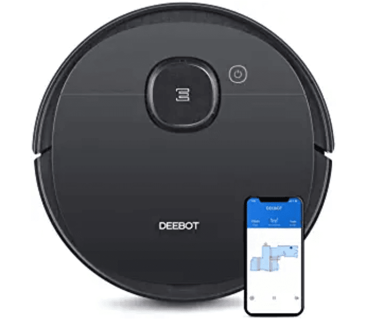 ECOVACS DEEBOT OZMO 950 3 Levels of Suction Power, Hard Floors & Carpets, and Pet Hair