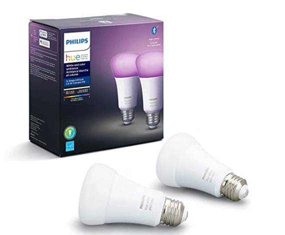 Philips Hue Smart Bulb, works with Alexa & Google Assistant