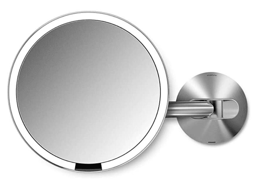 "Sensor Lighted Makeup Vanity Mirror 8"" Round Wall Mount"