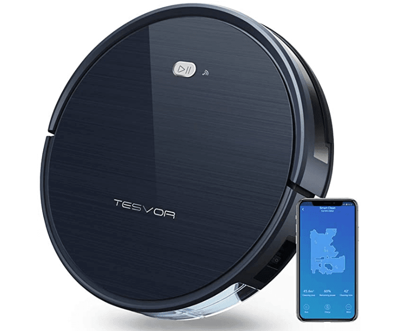 Tesvor Robot Vacuum Cleaner with Smart Mapping System for Pet Hair Care