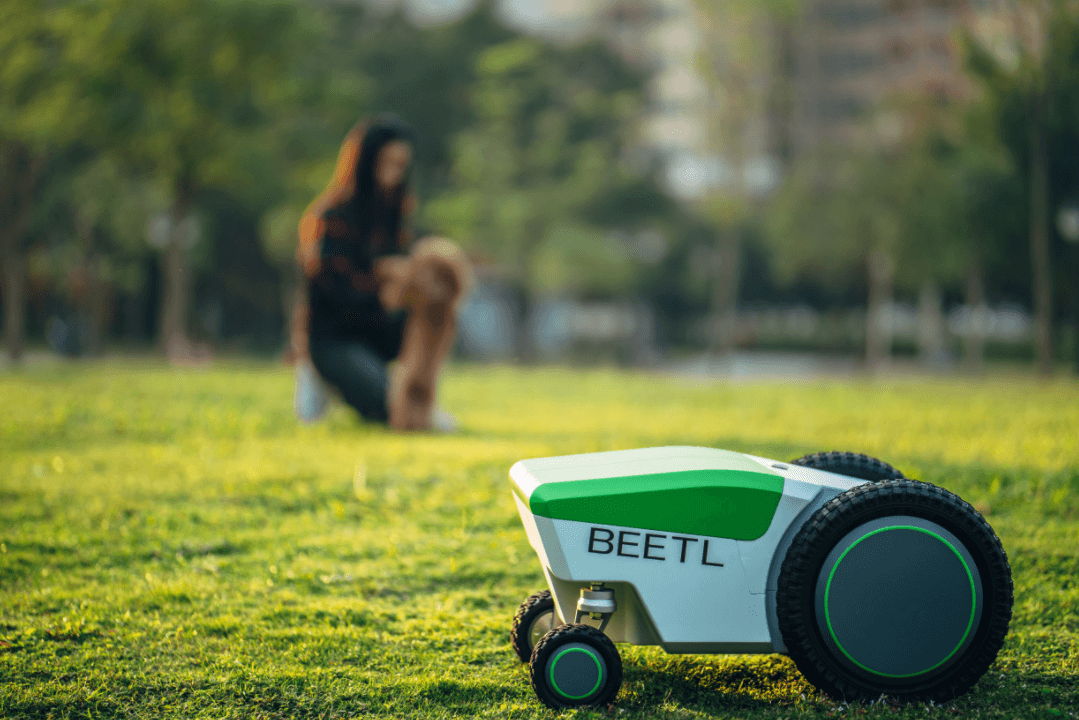 The Beetle robot that pick up dog poop