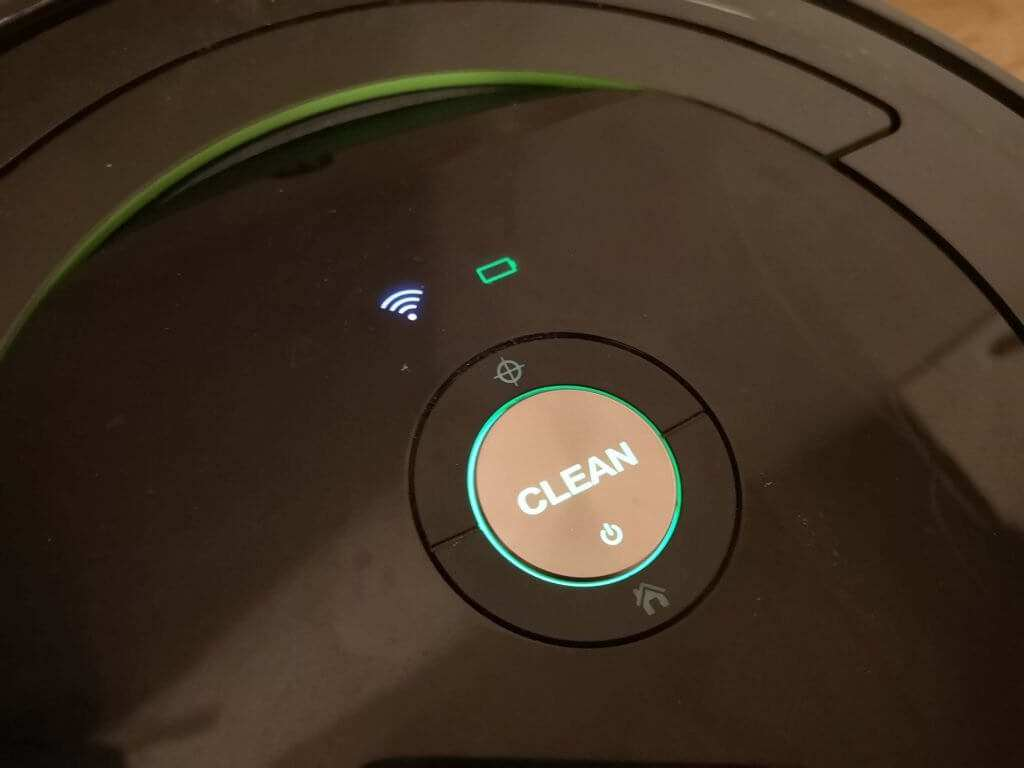 Roomba strong green light indicate a full battery.