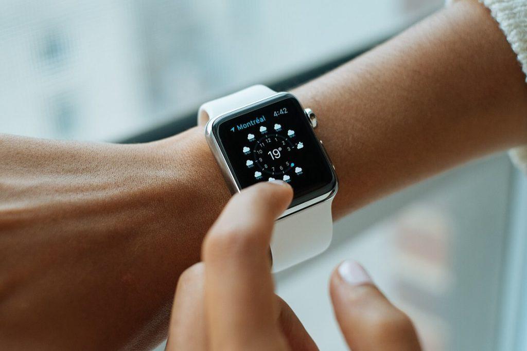 An Apple smartwatch