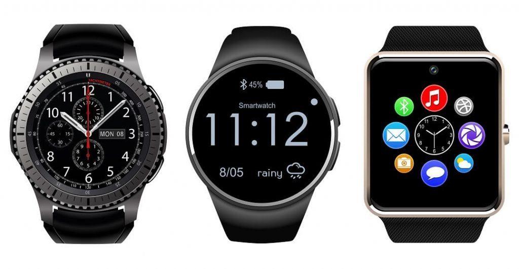 three smartwatch models