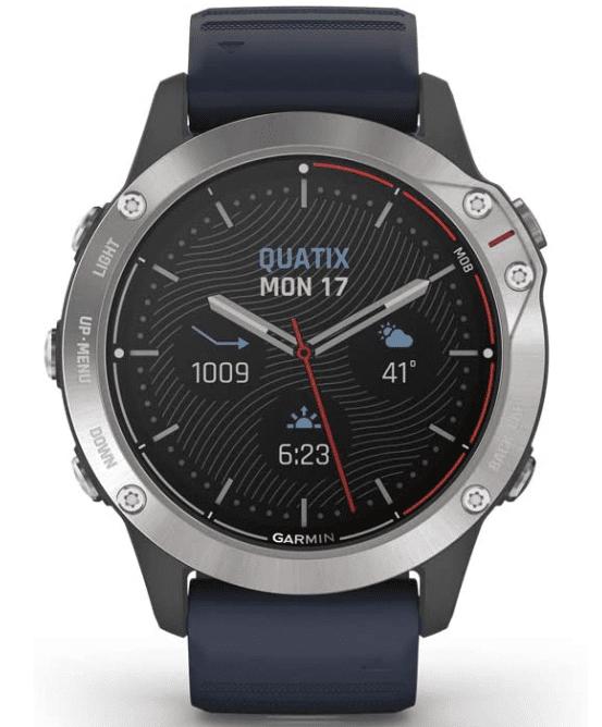 best smartwatch with bluetooth for swimmers: Garmin 010-02158-90 quatix 6 Multisport Marine
