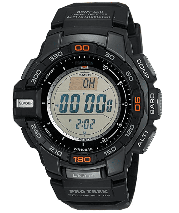 Best smartwatch for hiking: Casio Pro Trek Tough Solar Triple Sensor Multifunction Digital Sport Watch PRG-270-1