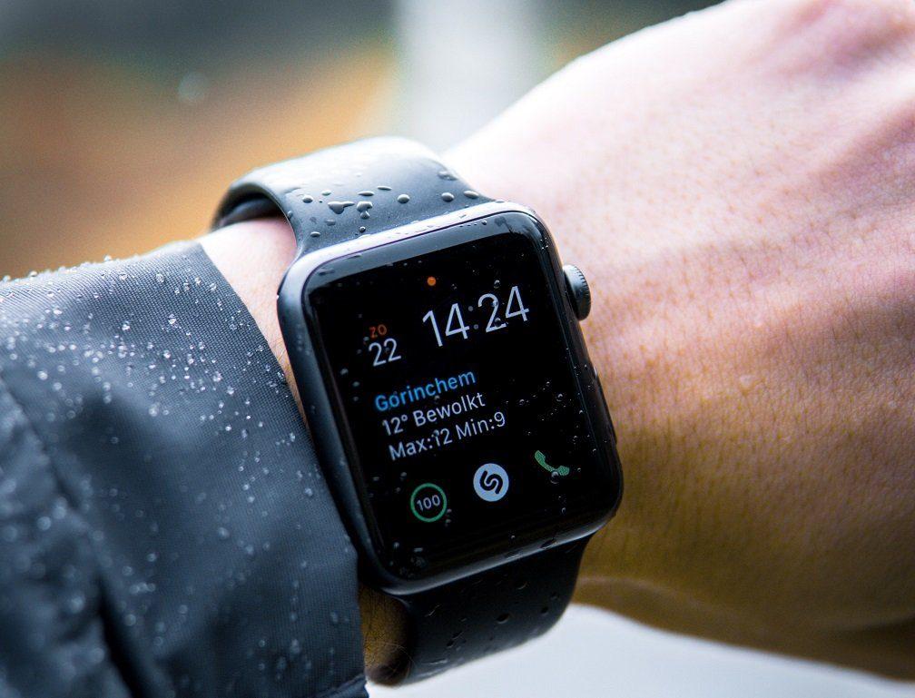 a smartwatch on the wrist