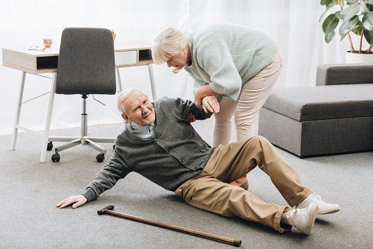 Falling is dangerous for the elderly.